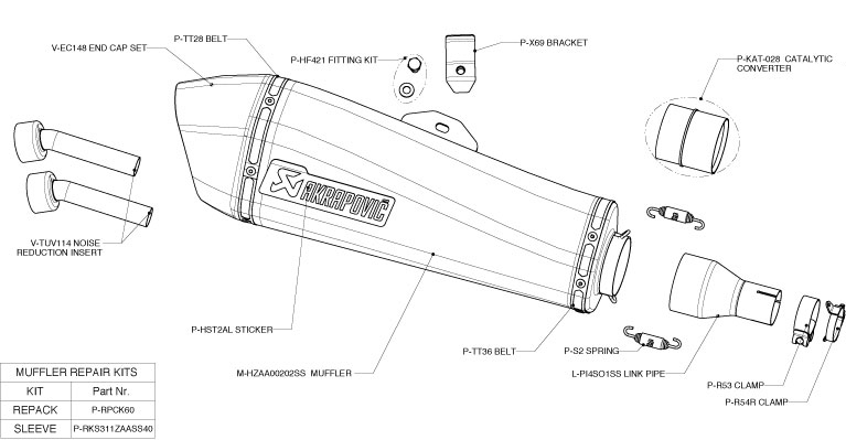 echappement akrapovic piaggo MP3