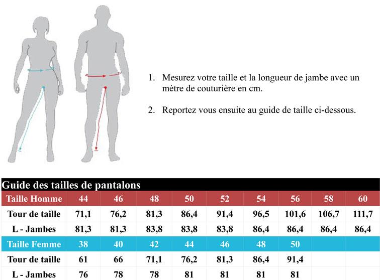 guide des tailles pantalon icon