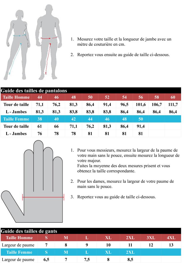 guide des tailles 2