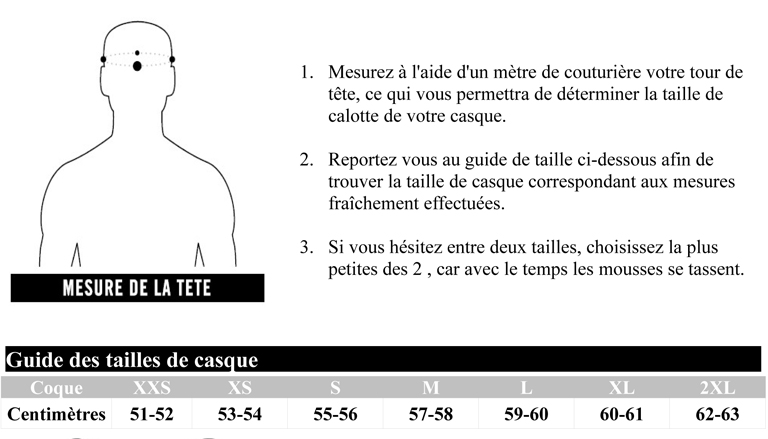guide taille casque icon