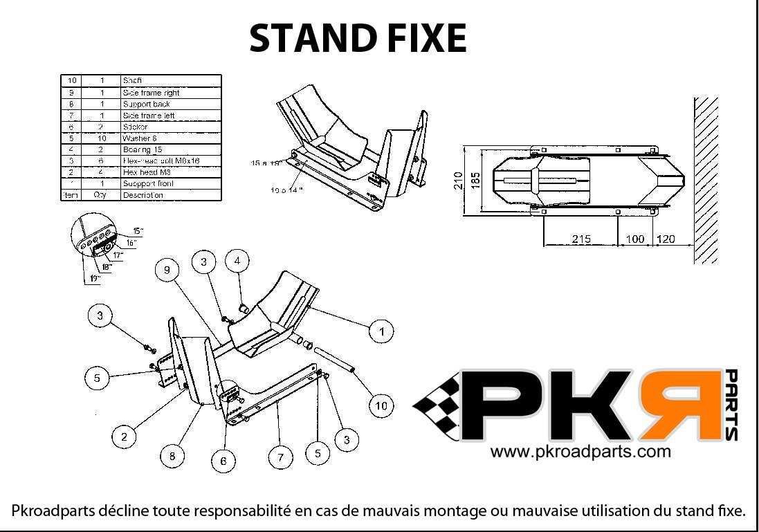 notice stand fixe